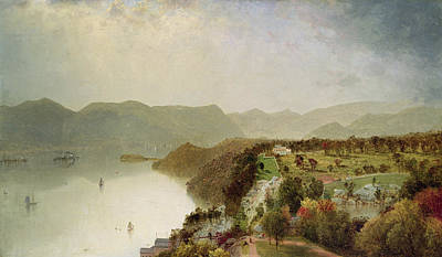 Hotel Painting - View Of Cozzen's Hotel Near West Point Ny by John Frederick Kensett
