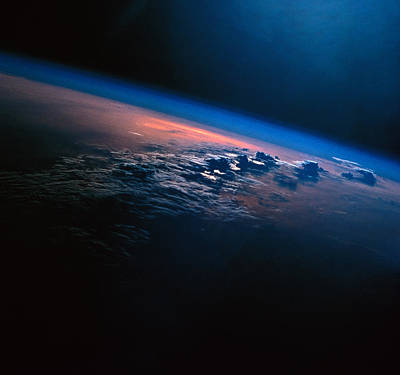 Space Exploration Photograph - View Of Earth From Outer Space by Stockbyte