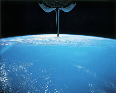 View Of Earth From The Space Shuttle Art Print by Stockbyte