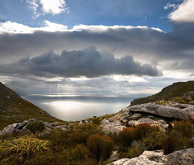 View Of False Bay, Muizenberg Peak, Silvermine, Table Mountain National Park, Cape Town, Western Cape, South Africa Art Print by Andy Nixon