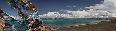 View Of Freshwater Lake Manasarovar Art Print by Phil Borges