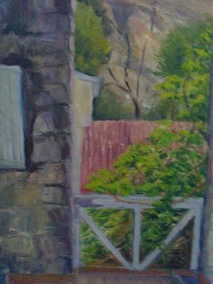 Gilgit Painting - view of Gilgit by Misbah uddin Qazi