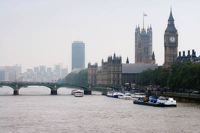 View Of  Houses Of Parliament, London, England, Uk Art Print