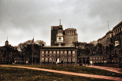 Philadelphia History Digital Art - View Of Independence Hall In Philadelphia by Bill Cannon