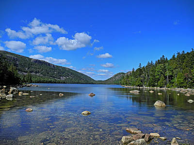 Photograph - View Of Jordan Pond by Lynda Lehmann