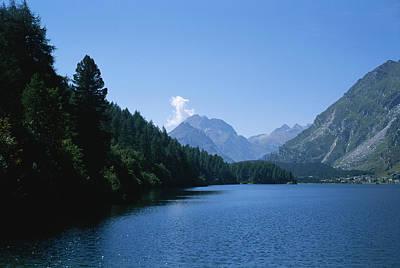 View Of Lake Segl Art Print
