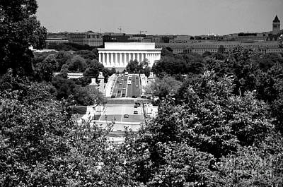 Washington Dc Photograph - View Of Lincoln Memorial by Pravine Chester