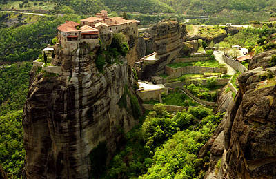 Photograph - View Of Meteora With Monastery by Emanuel Tanjala