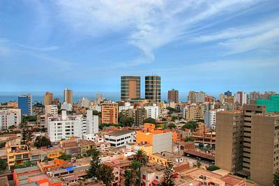 View Of Miraflores, Lima Art Print by Richard Fairless