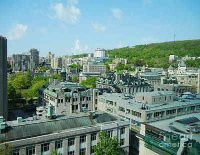 Montreal Street Life Photograph - View Of Montreal  From Royal Victoria College by Reb Frost
