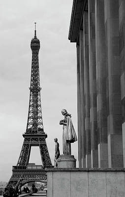 View Of Paris France With Eiffel Tower Art Print by Win Initiative