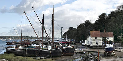 View Of Pin Mill From King's Yard Art Print by Gary Eason
