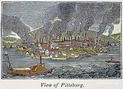 View Of Pittsburgh, 1836 Art Print by Granger