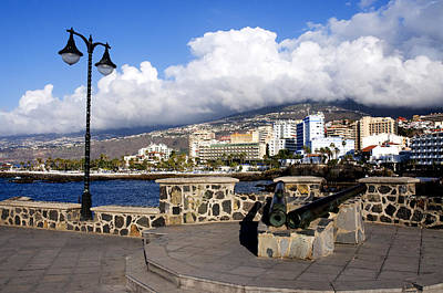 Puerto Photograph - View Of Puerto De La Cruz From Plaza De Europa by Fabrizio Troiani
