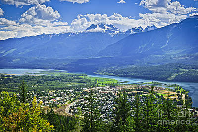 Town Photograph - View Of Revelstoke In British Columbia by Elena Elisseeva