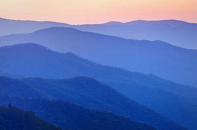 Y120817 Photograph - View Of Ridges From Oconoluftee Overlook by Dennis Flaherty
