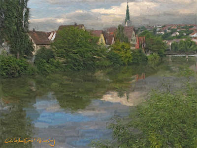 View Of The Cathedral In Rottenburg On Neckar Art Print by Nikolay Vakatov