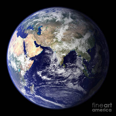 Terrestrial Sphere Photograph - View Of The Earth From Space Showing by Stocktrek Images