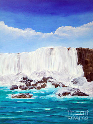 Painting - View Of The Falls by Maria Williams
