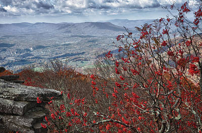 Photograph - View Of The New River Valley From The Bald Knob Overlook by James Woody