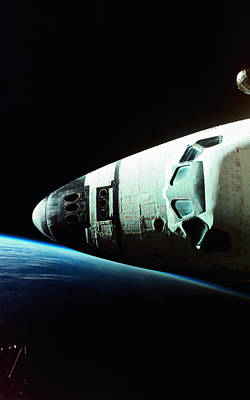View Of The Nose Of Space Shuttle Art Print by Stockbyte