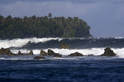 Kosrae Island Photograph - View Of The Rugged Coast Of Kosrae by Tim Laman
