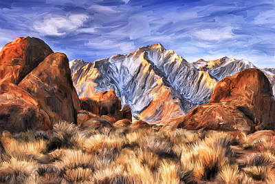 View Of The Sierras Art Print by Dominic Piperata