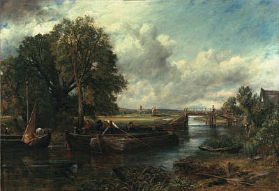 Constable Painting - View Of The Stour Near Dedham by John Constable