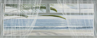 Tropical Painting - View Of The Tropics Panoramic View by Diane Romanello