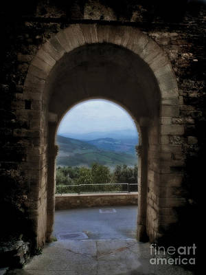 Outlook Photograph - View Of Tuscany by Karen Lewis