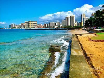 Art Print featuring the photograph View Of Waikiki by Joe Finney