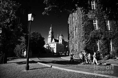 Cracovia Photograph - View Of Wawel Cathedral And Towers Streetlight In Wawel Hill Castle Krakow  by Joe Fox