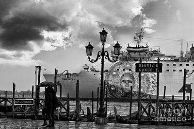 View On Canale Di San Marco In Venice Art Print by Design Remix