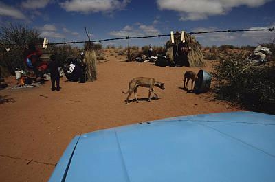 Bushman Photograph - View Over A Car Hood Of The Bushman by Chris Johns