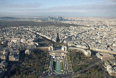View Over Trocadero From Eiffel Tower. Paris Art Print