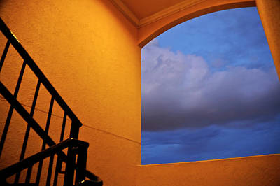 Photograph - View Through A Stairwell by Carolyn Marshall
