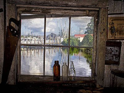 Photograph - View Through Fish House Window by Sandra Anderson
