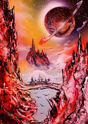 View To Saturn Art Print by Tony Vegas