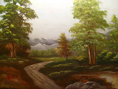 View To The Mountains Art Print by Marie Dulny