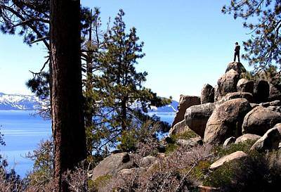 Photograph - Viewing Lake Tahoe by Will Borden