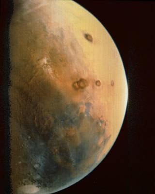 Tharsis Photograph - Viking 1 Spacecraft Photograph Of Mars by Nasa