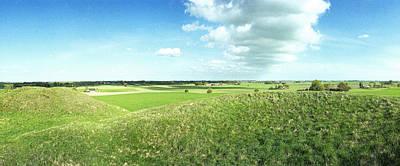 Viking Burial Mounds Original by Jan W Faul