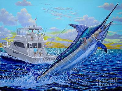 Striped Marlin Painting - Viking Marlin by Carey Chen