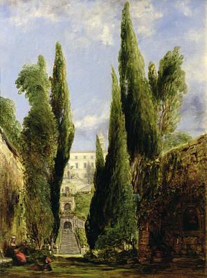 Villa Painting - Villa D'este Tivoli by William Collins