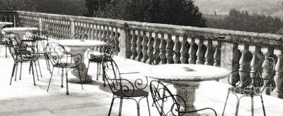 Photograph - Villa Lecchi Terrace 2 Sepia by Vicki Hone Smith