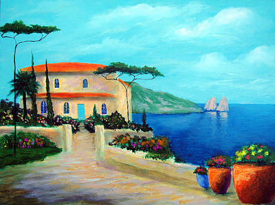 Villa Of Amalfi Art Print