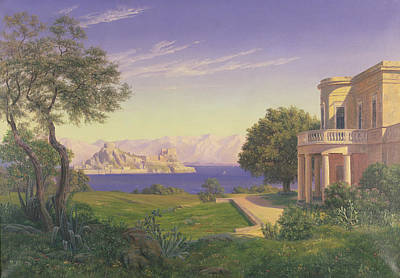 Capri Painting - Villa Overlooking Capri  by Anonymous