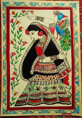 Madhubani Painting - Village Belle  by Aprajita Jha