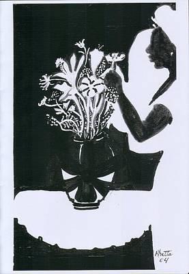 Village Dancers Art Print by Rhetta Hughes