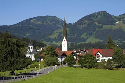 Y120831 Photograph - Village Fischen, Allgäu, Bavaria by Hans-Peter Merten